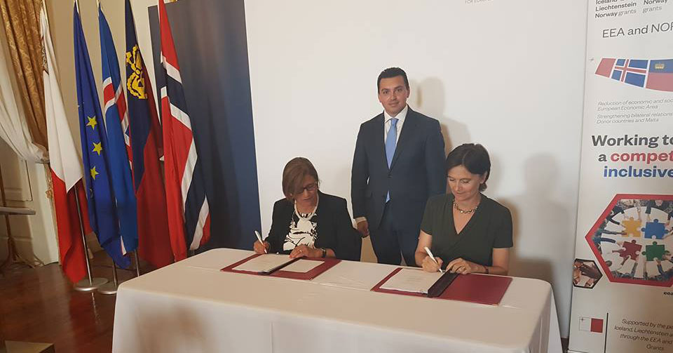 Signing of the Programme Agreement - EEA and Norway Grants 2014-2021